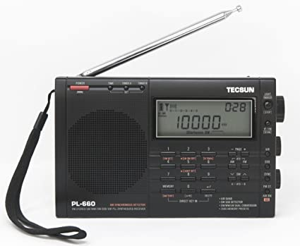 LW MW AIR /</<BLACK/>/> TECSUN PL660 PLL WORLD BAND RECEIVER FM SW