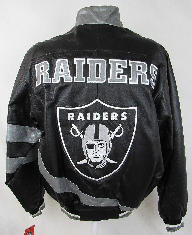 G-III Sports Oakland Raiders メンズ サイズ S フルジップ 刺繍レザージャケット ARAD 171
