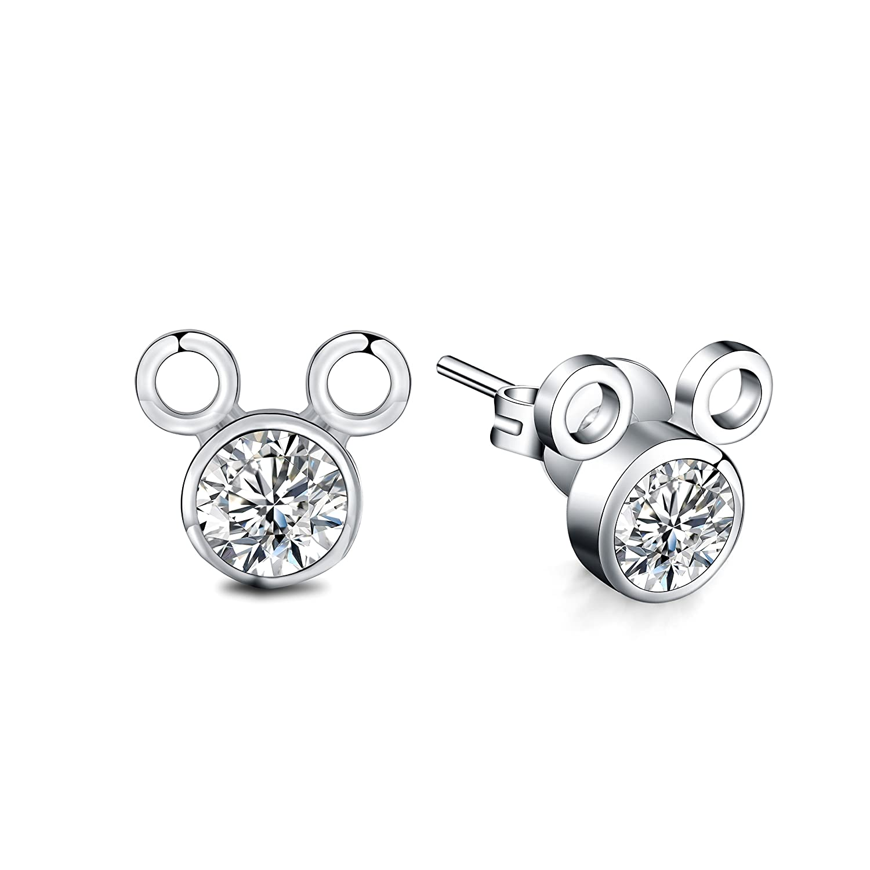Majesto Juego de Joyas - conjunto colgante de collar y pendientes de llave ratón para mujer adolescente niña pequeña mamá - accesorio de joyería de regalo ...