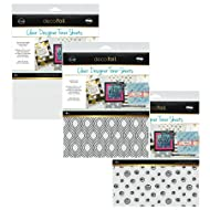 Deco Foil Clear Toner Sheets - Foil Reactive Toner Designs Printed on Acetate - Groovy, Doodles and Clear Printable - 3 Items