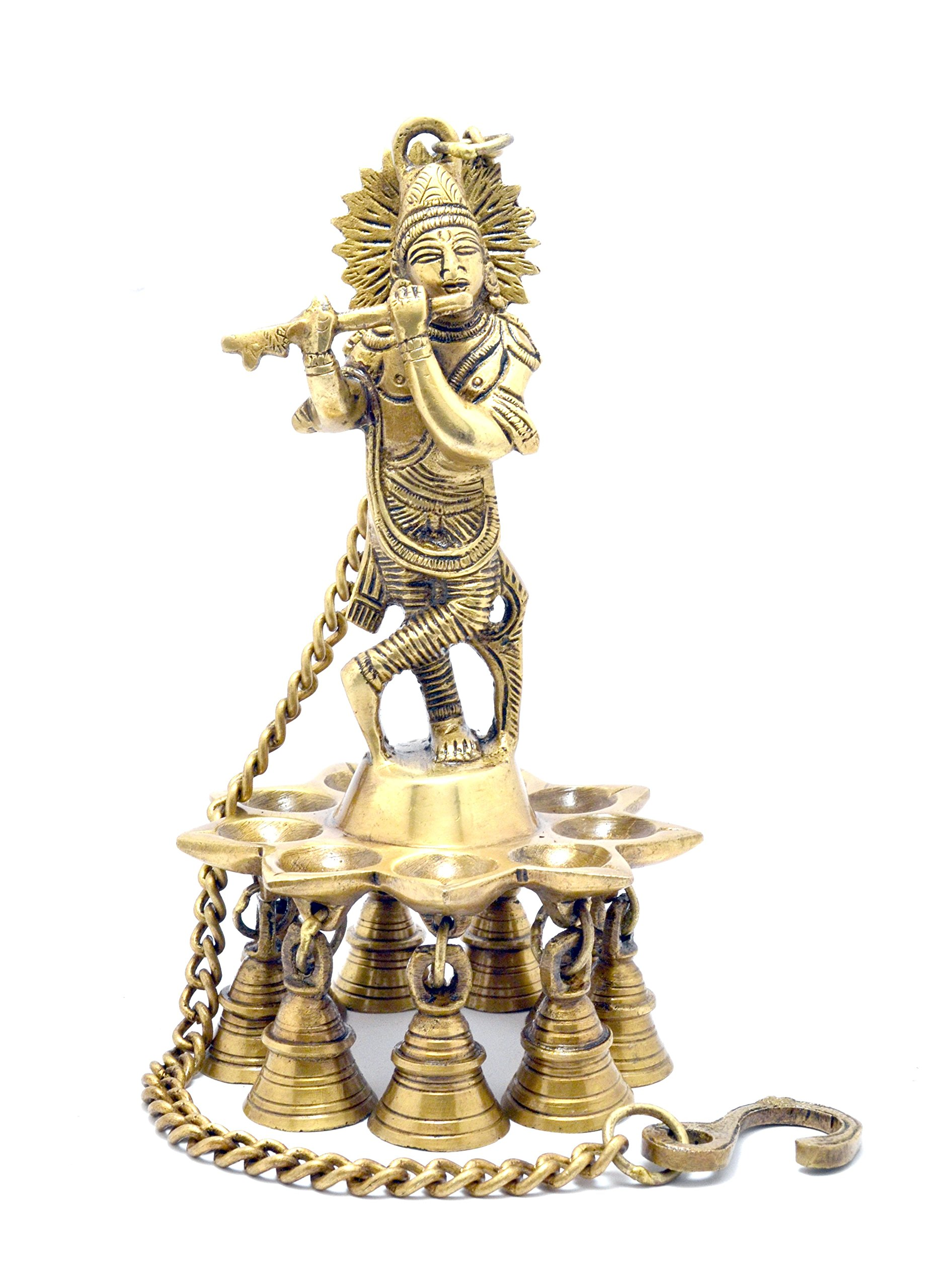 Two Moustaches Krishna Hanging Brass Diya | Home Decor | by Two Moustaches (Image #2)