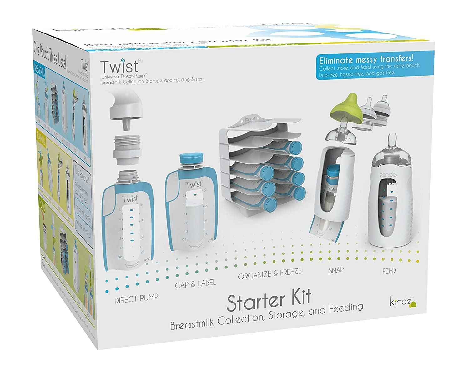Kiinde Breast Milk Storage Twist Starter Kit TS-N-001-NA