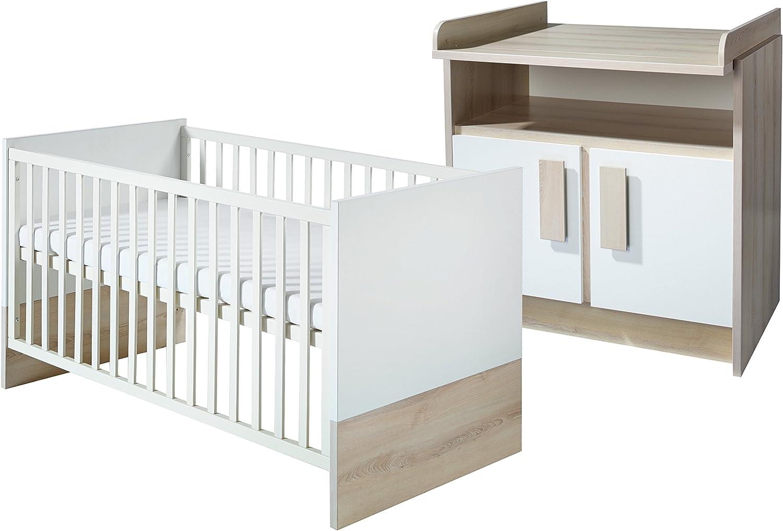 Combinación cama y cómoda para cambiador Roba 54391-54371 «Sonja». Pack ahorro compuesto por una combinación de cama y cómoda cambiador estrecha.: Amazon.es: Bebé