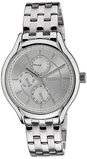 Reloj mujer FOSSIL bq1580ie acero inoxidable plata cronógrafo brillantes: Amazon.es: Relojes