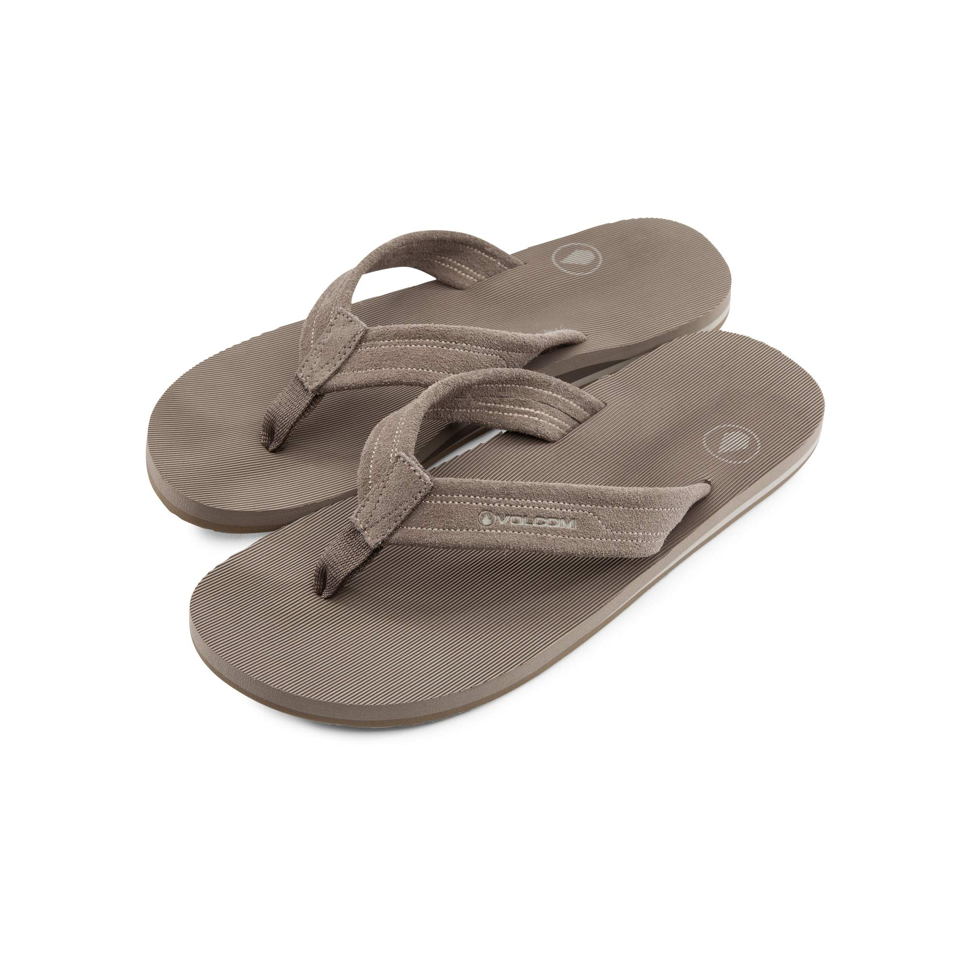 e9e71f79e Galleon - Volcom Men s Driftin Suede Strap Leather Flip Flop Sandal Tan