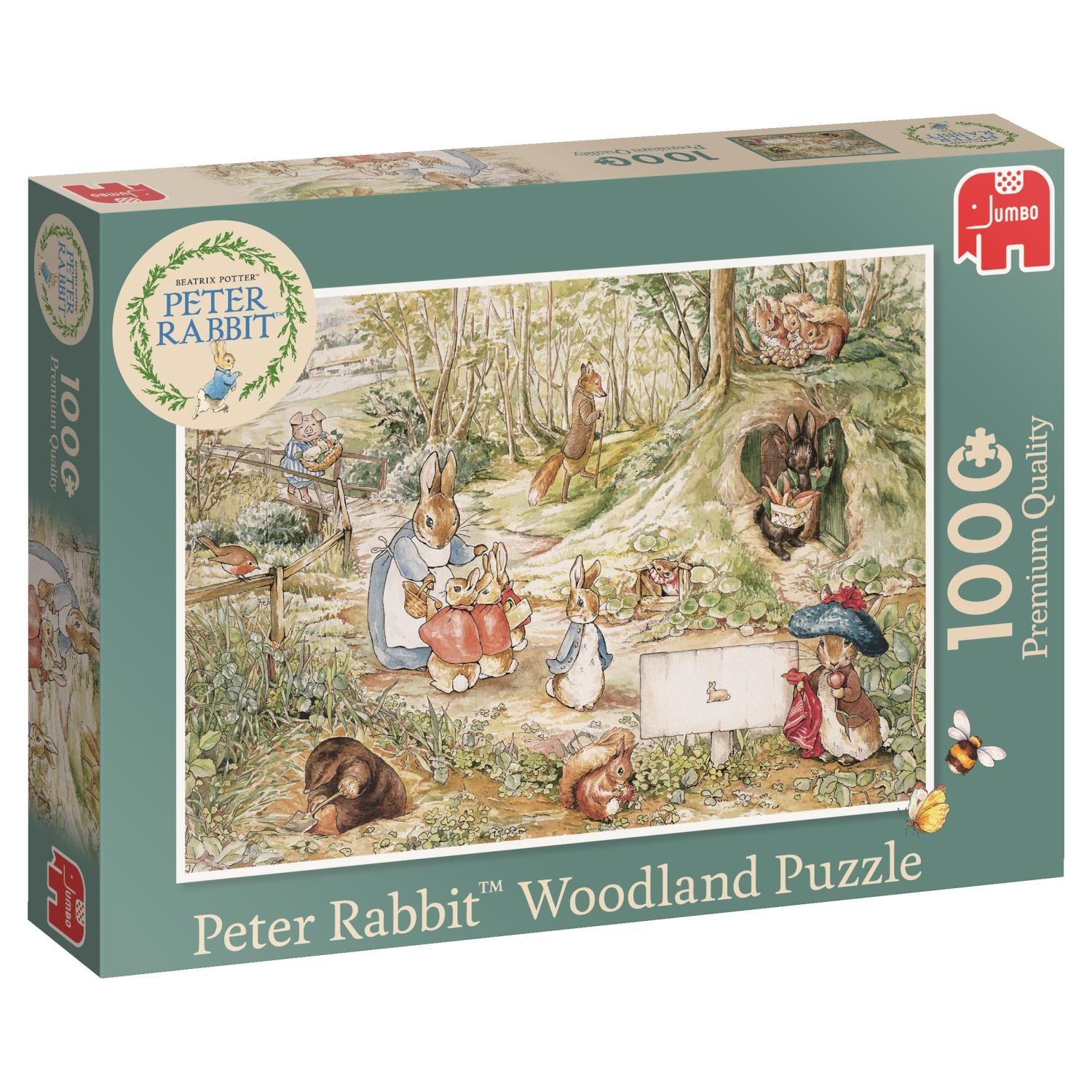 Jumbo 19480 Peter Rabbit-Woodland 1000 Piece Jigsaw Puzzle