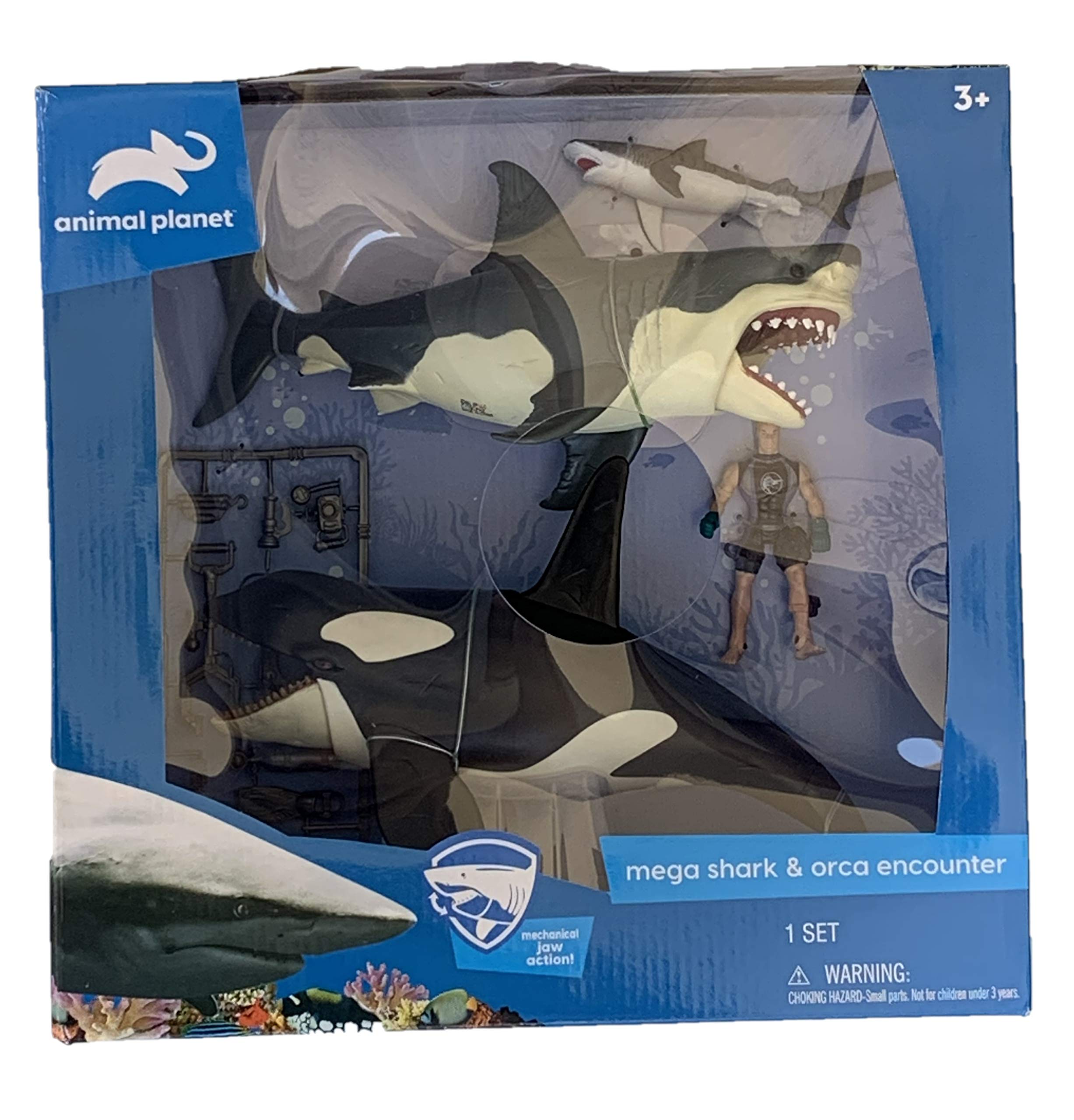 Great White Shark & Killer Whale Playset - Animal Planet
