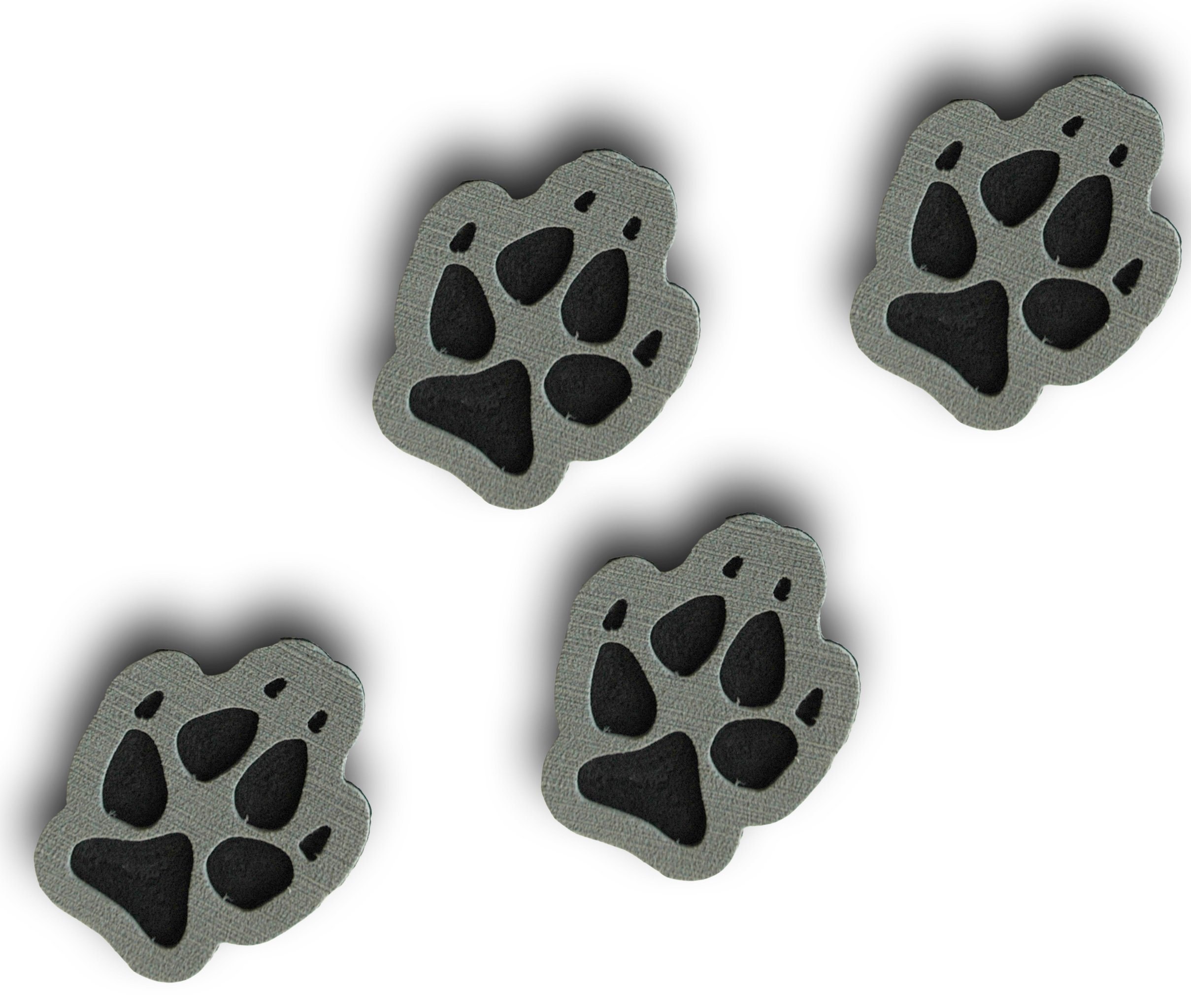 ToeJamR Stomp Pads - 4 Puppy Paws - Gray by Toejamr