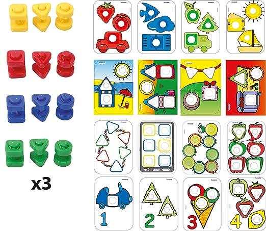Amazon.com: Miniland Activity Nuts and Bolts School Set: Toys & Games