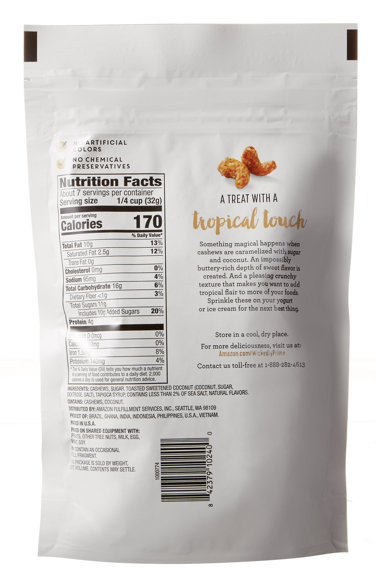 Wickedly Prime Roasted Cashews, Coconut Toffee, 8 Ounce by Wickedly Prime (Image #5)