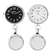 Nurse Fob Watch for Medical Professionals, Clip on Watch with Second Hand, Easy to Read, Retractable Rope