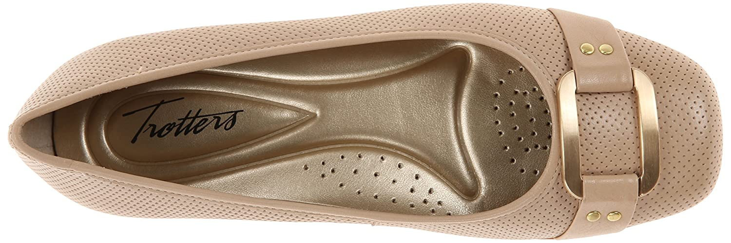 Trotters Women's Sizzle Flat B00LMI8MPY 8 W US|Nude Perforated