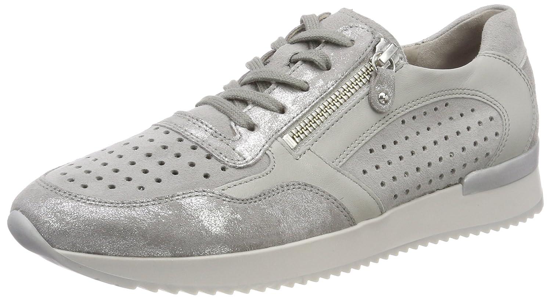 Gabor Shoes Gabor Casual, Zapatos de Cordones Derby para Mujer 38 EU|Gris (Grau/Stone/Delfin)