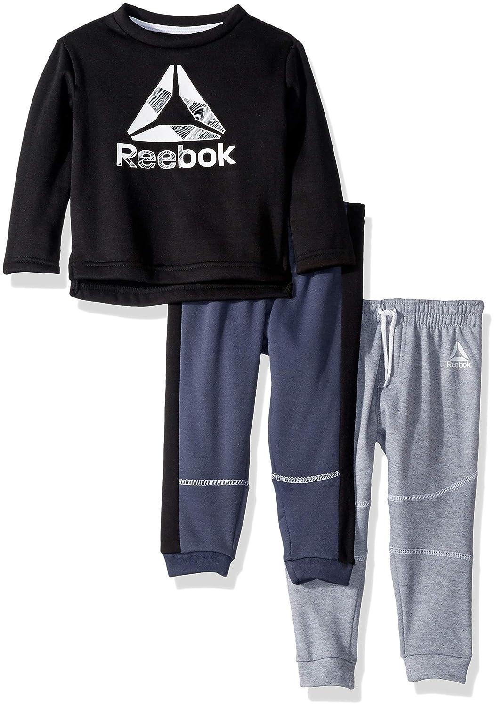 10915a4400 Amazon.com: Reebok Boys' Toddler 3 Piece Spun Poly Fleece Sweatshirt and  Jog Pants: Clothing