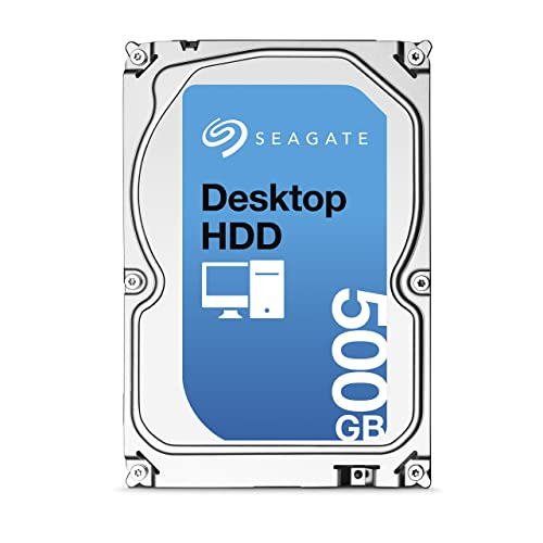 (Old Model) Seagate 500GB Desktop HDD SATA 6Gb/s 16MB Cache 3.5-Inch Internal Bare Drive (ST500DM002)
