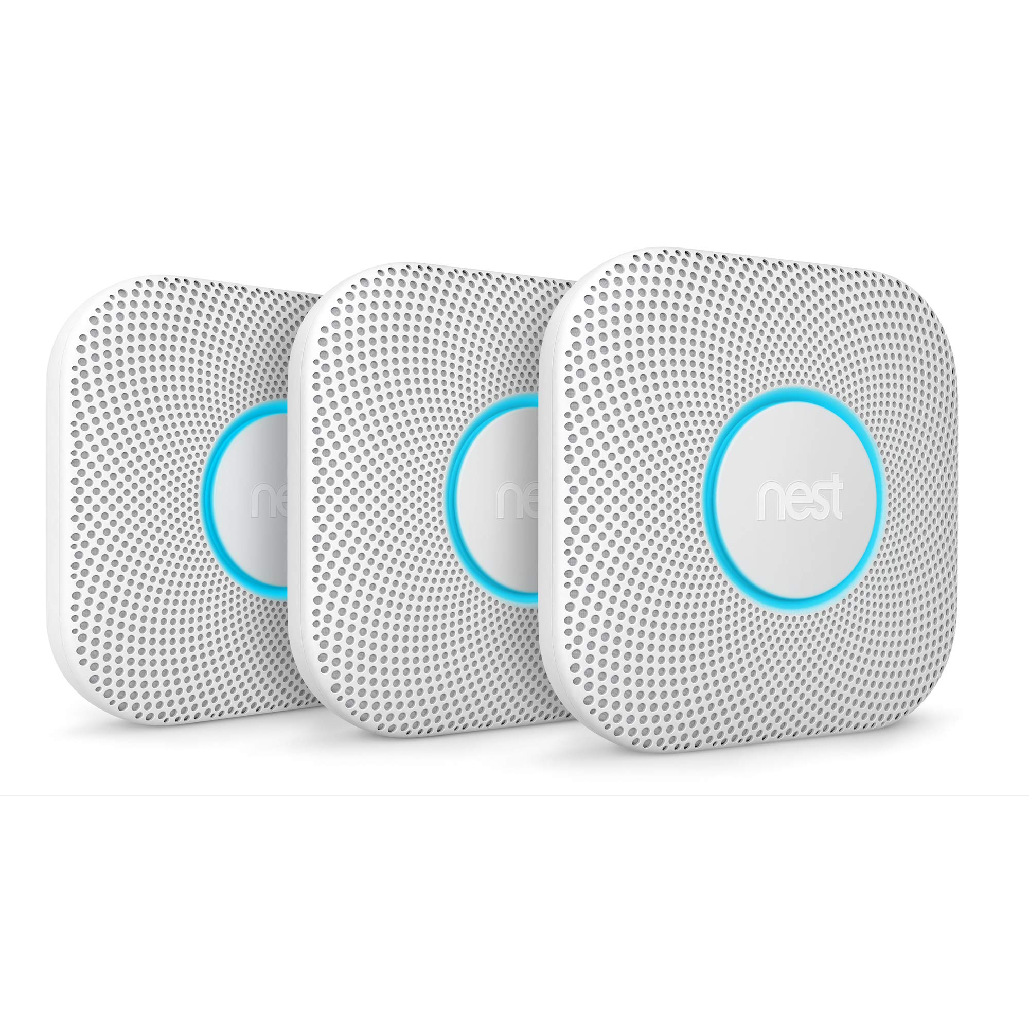 Nest S3000BWES Nest Protect 2nd Gen Smoke + Carbon Monoxide Alarm, Battery (Battery) by NESTC