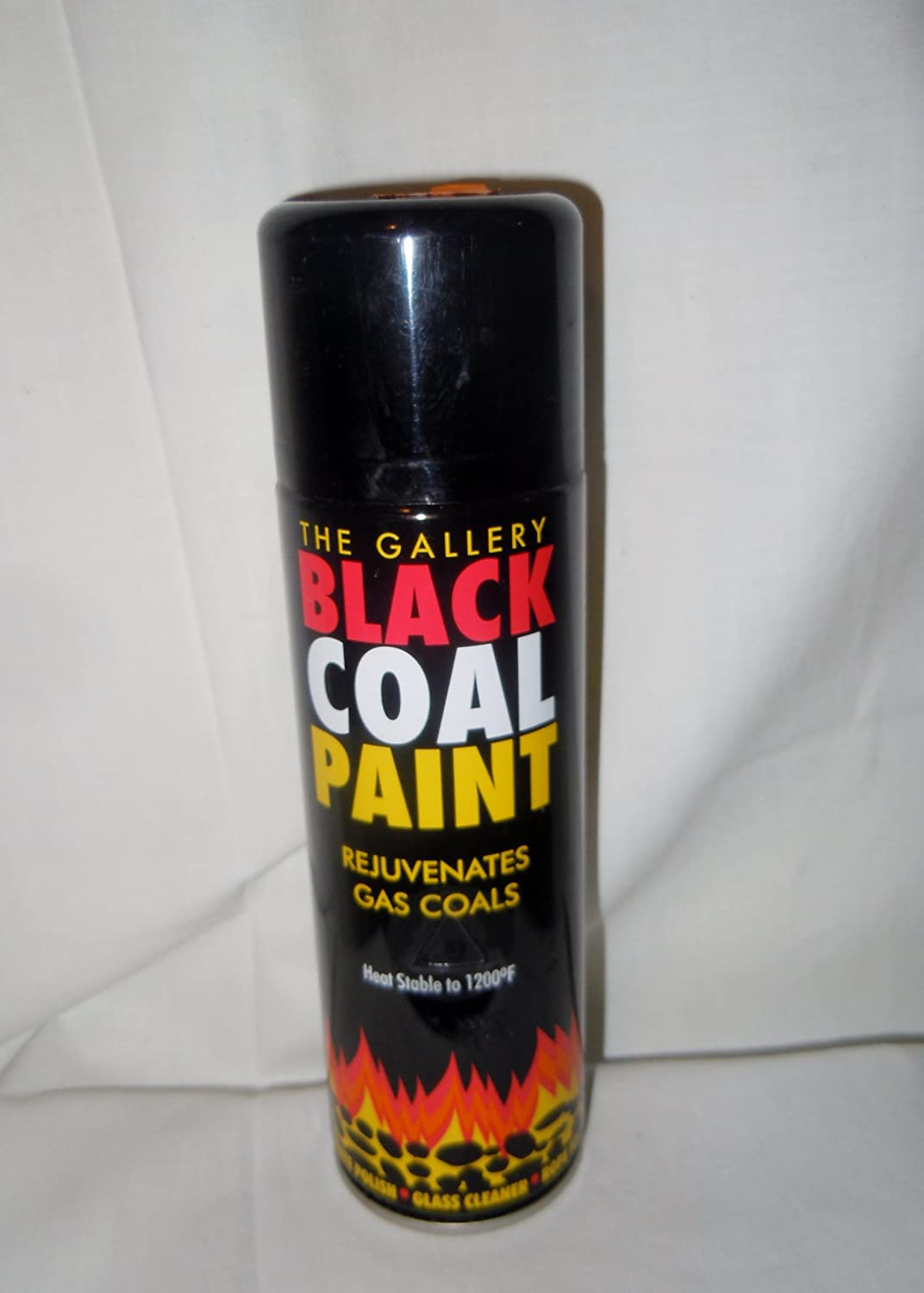 black coal paint spray for gas coals stove grate fireplace wood or