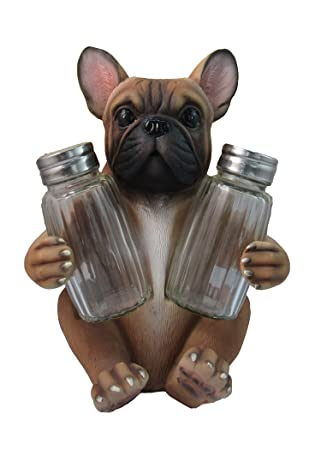 Amazoncom Adorable French Bulldog Salt And Pepper Shaker Set By