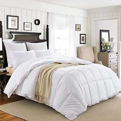 Amazon Com Downluxe White Down Comforter King All Seasons Down