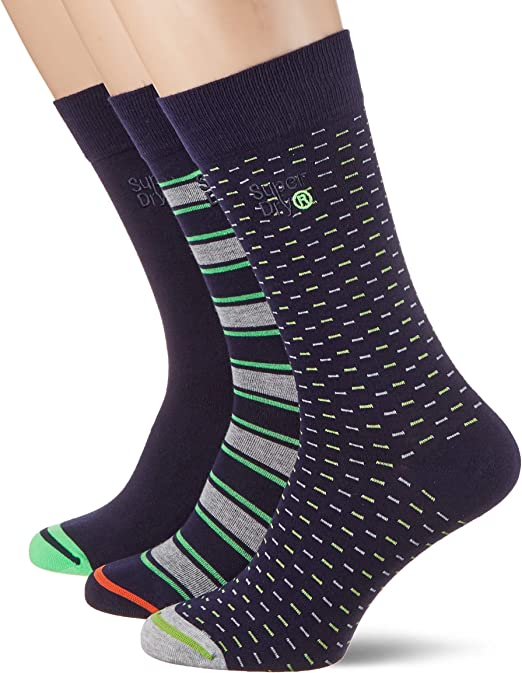 Superdry City Sock Triple Pack Calcetines para Hombre: Amazon.es ...