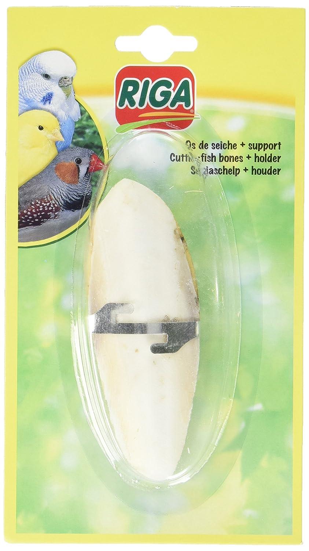 Riga Os de Seiche + Support 1 g pour oiseau - Lot de 2 Riga (petfood) 000483