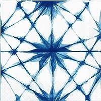 "Creative Converting Shibori Napkins, 6.5"", Blue"