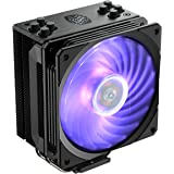 Cooler Master Hyper 212 RGB Black Edition CPU Air Cooler, SF120R RGB Fan, 4 CD 2.0 Heatpipes, Anodized Gun-Metal Black…