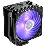 Cooler Master Hyper 212 RGB Black Edition CPU Air Cooler, SF120R RGB Fan, 4 CD 2.0 Heatpipes, Anodized Gun-Metal Black…