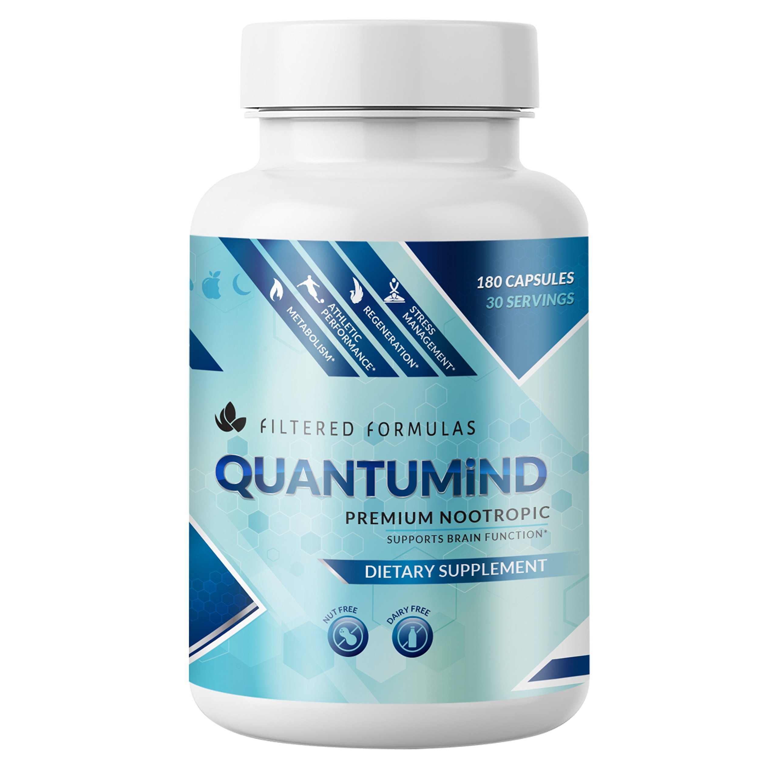 Nootropics Brain Supplement - Focus Supplement for Memory :: Concentration :: Clarity :: Energy - Mental Health and Memory Supplement for Brain with Ashwaganda - QUANTUMiND by Filtered Formulas (180)