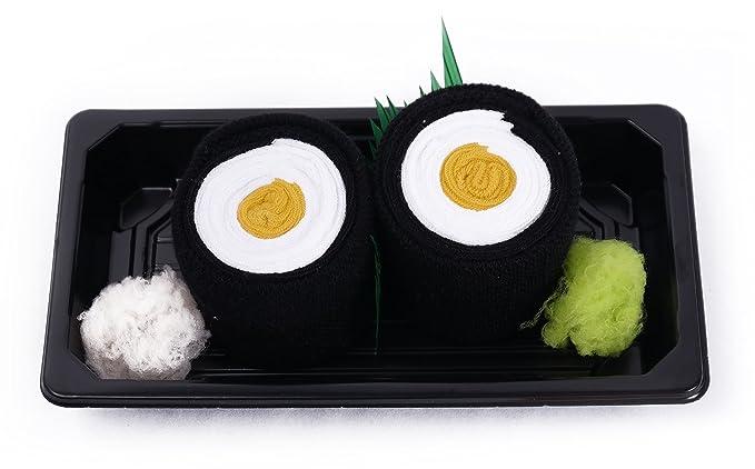 Sushi caja de calcetines – 1 par – oshinko Maki, tamaño UK 3 – 6
