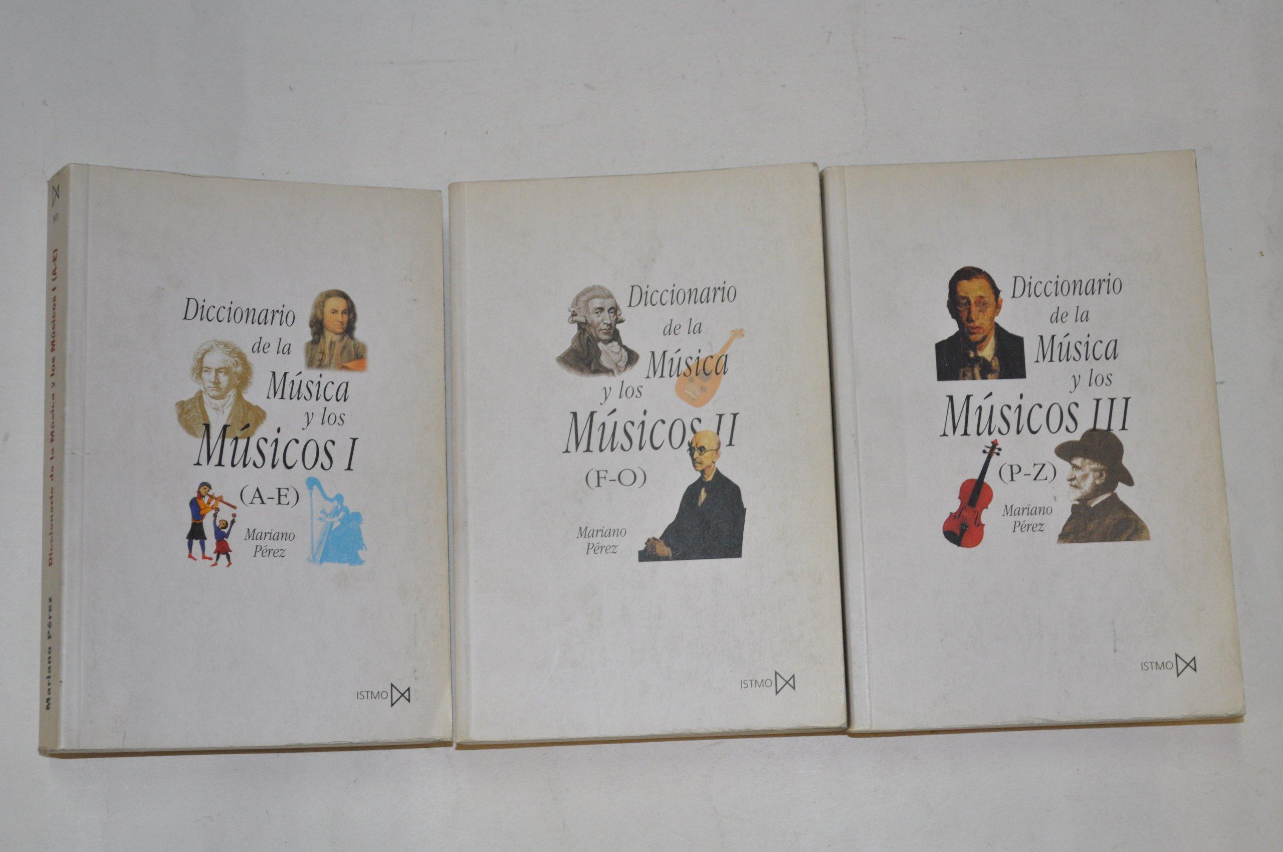 Diccionario de la musica y los musicos 3 tomos: Amazon.es ...