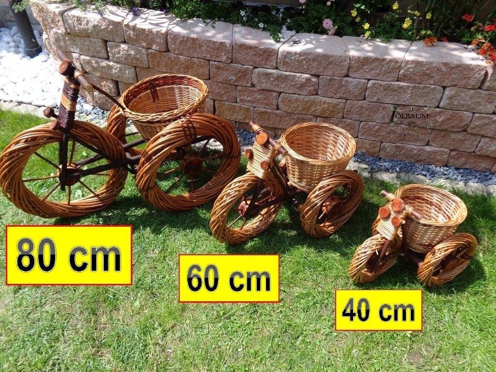 3 x Dreirad,Trike 80 + 60 + 45 cm aus Korbgeflecht, Korbmaterial wetterfest**, WITZIGE GARTENDEKO, ideal als Pflanzkasten, Blumenkasten, Pflanzhilfe, Pflanzcontainer, Pflanztröge, Pflanzschale, Rattan, Weidenkorb, Pflanzkorb, Blumentöpfe, Holzschubkarre, Pflanztrog, Pflanzgefäß, Pflanzschale, Blumentopf, Pflanzkasten, Übertopf, Übertöpfe, , Holzhaus Pflanzgefäß, Pflanztöpfe Pflanzkübel
