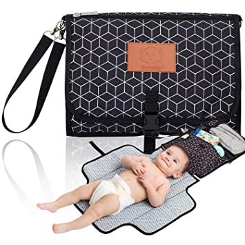 Waterproof Baby Travel Changing Mat Station for Toddlers Infants /& Newborns 0-6 Months Baby Shower Gift 27x 13 Portable Baby Diaper Changing Pad