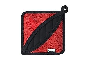 Lodge Manufacturing Company ASFPH41 trivet/potholder, 1 Count, Red/Black