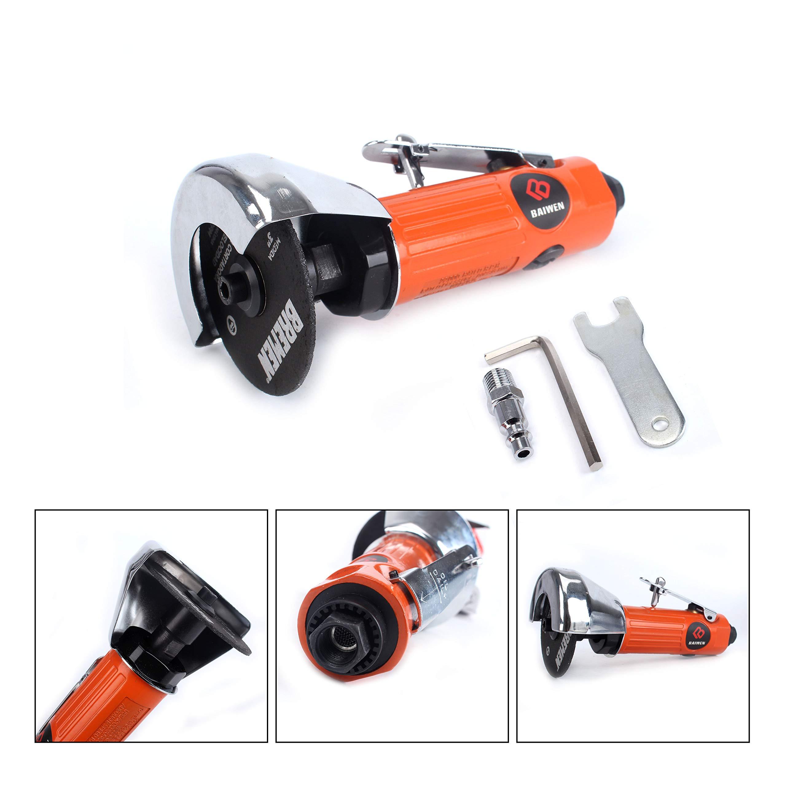 3inch Air Cut Off Tool Include 1Pcs 3'' Cut-off Wheels (3-inch Cutting Tool) by BaiWen