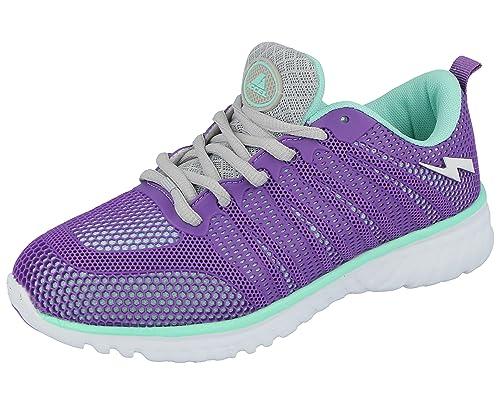 Foster Footwear pour Homme en Maille Filet à Lacets Baskets léger décontracté Confort Sports Gym Chaussures de Course Taille 6–11