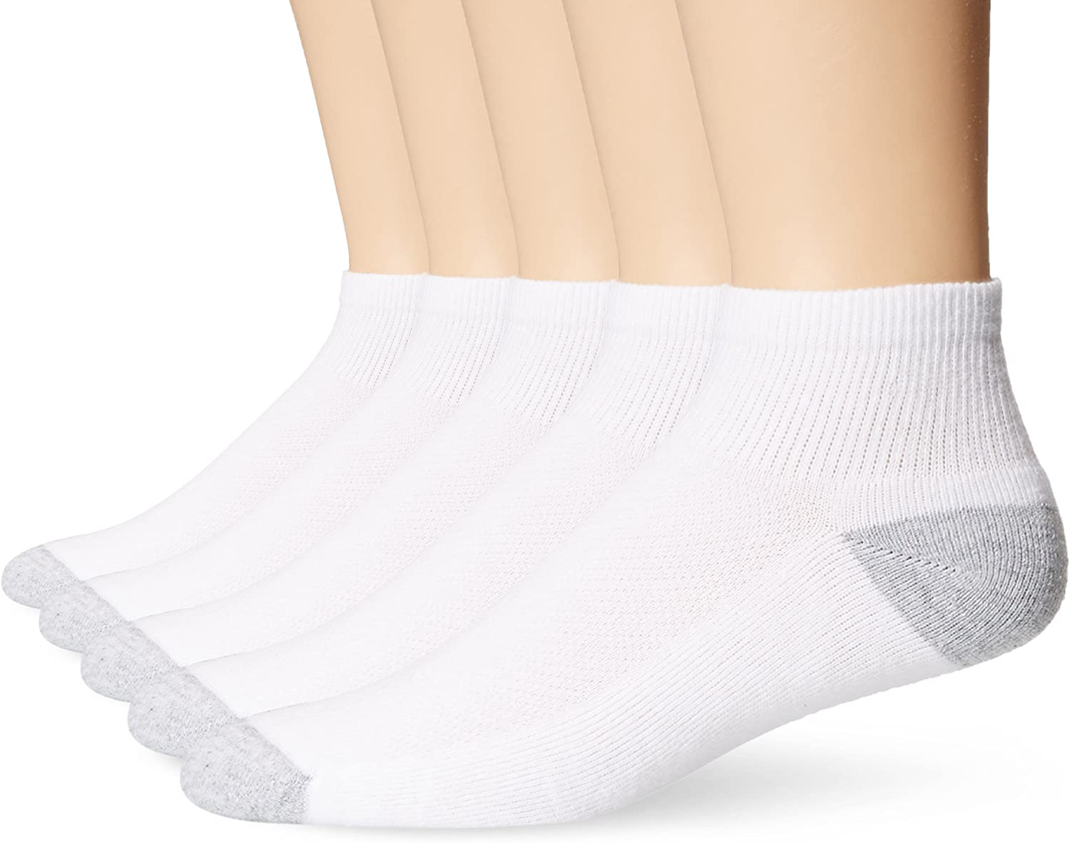 Hanes Ultimate Men's 5-Pack FreshIQ X-Temp Ankle Socks