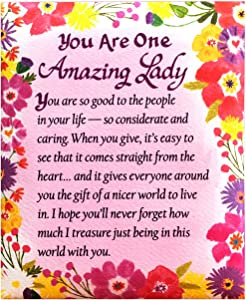 "Blue Mountain Arts Refrigerator Magnet ""You Are One Amazing Lady"" 4.0 x 3.25 in. Perfect Gift for Mother's Day, Birthday, Anniversary, Valentine's Day for Mom, Daughter, Sister, Aunt, Grandma, or Wife"