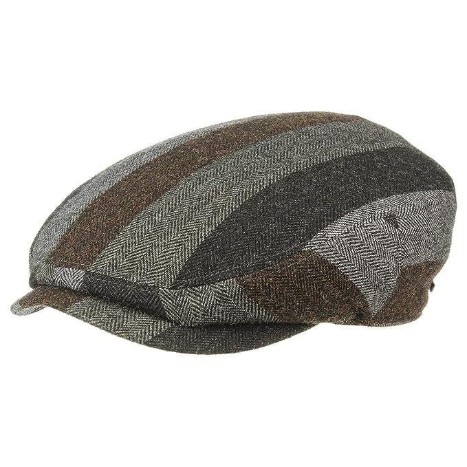 Stetson Bandera Patchwork Coppola cappello piatto berretti piatti 62 cm -  antracite f8242b18452c