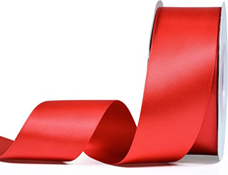 """5 yards of Red 1//4/"""" Double Face Satin Ribbon 1//4/"""" x 5 yards"""