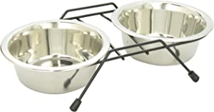 Dogit Stainless Steel Raised Dog Bowls with Wire Frame for Both Dogs & Cats, Small