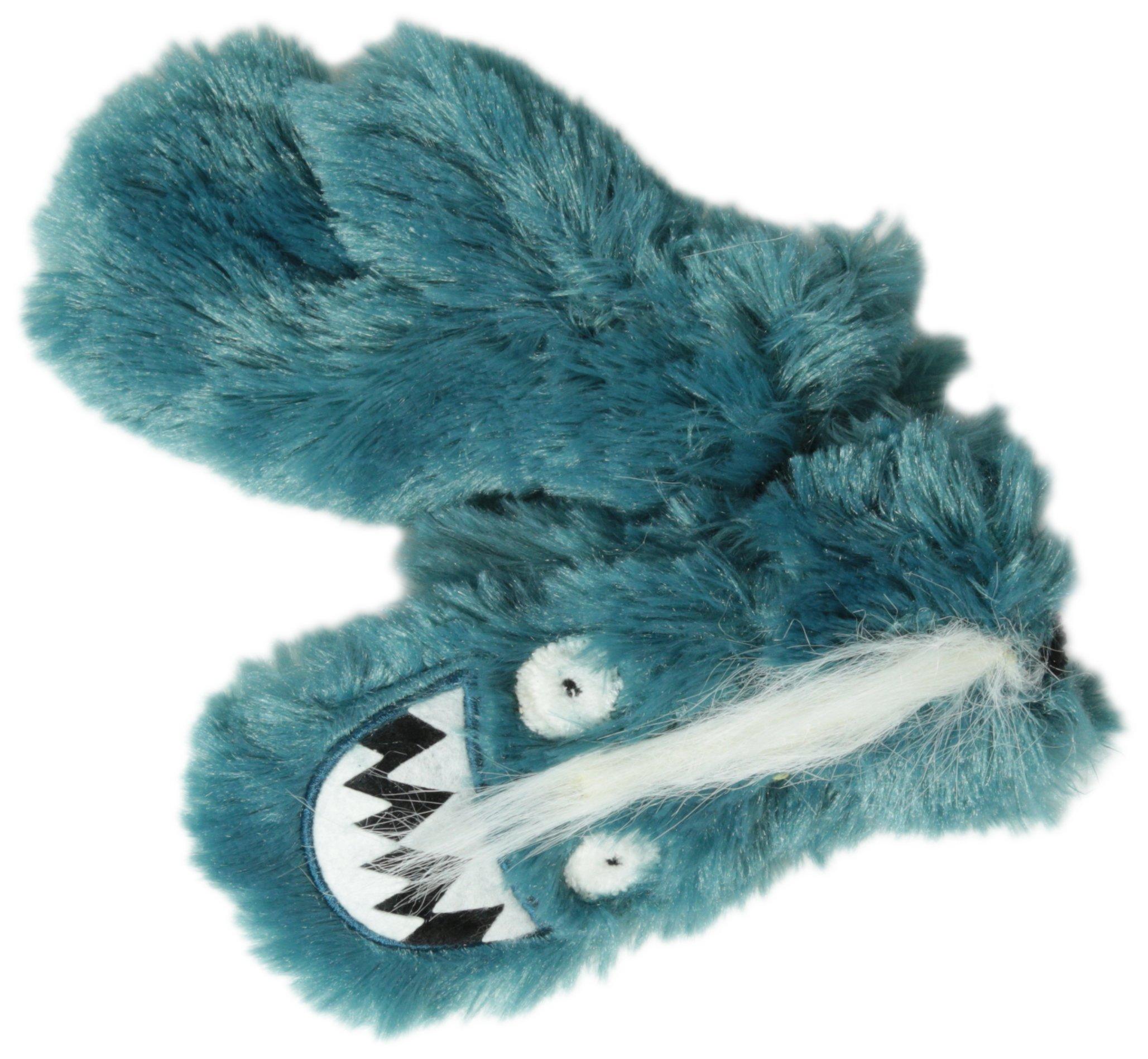 Hatley Little Boys' Fuzzy Fleece Mittens-Ice Monster, Blue, Small