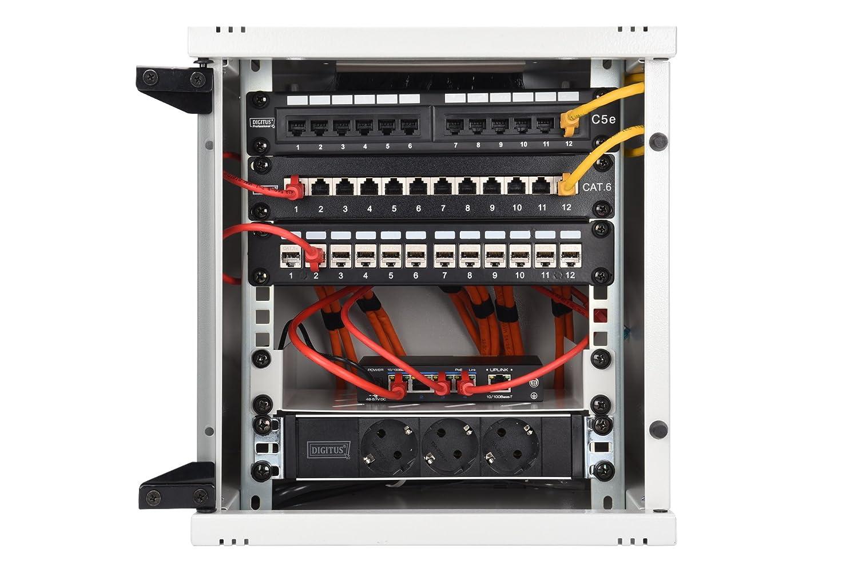 ASSMANN Digitus Soporte de Pared Organizador de Cables