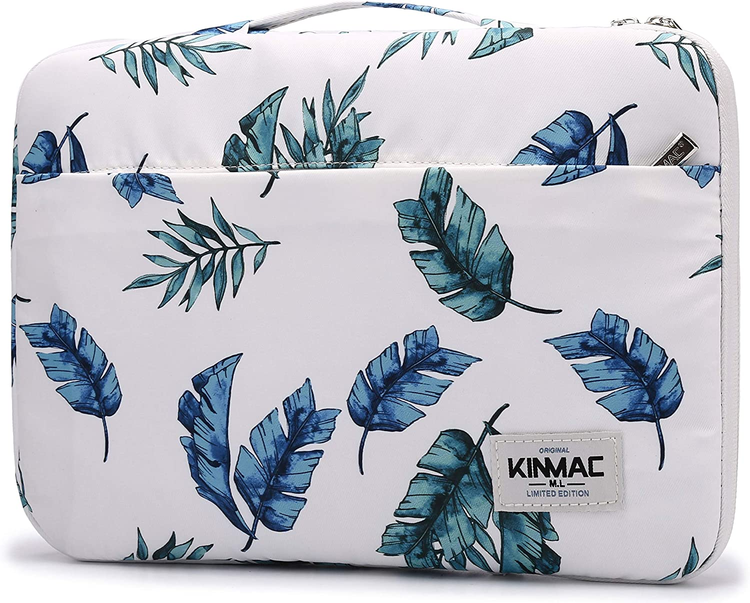 Kinmac 360° Protective Waterproof Laptop Case Bag Sleeve with Handle (15.6 inch, Banana Leaf)