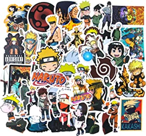 Naruto Stickers, 50pcs Anime Stickers Computer Stickers for Teens, Skateboard Stickers Waterproof Vinyl Stickers for Water Bottles Motorcycle Snowboard Luggage Bike Bumper Naruto Enthusiast Gift