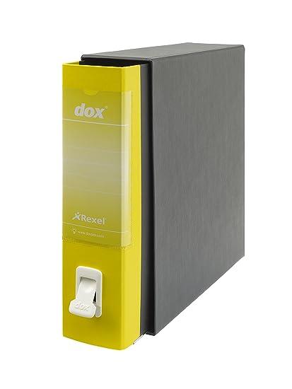Rexel Dox 1 - Archivador de anillas con palanca (formato A4), color amarillo