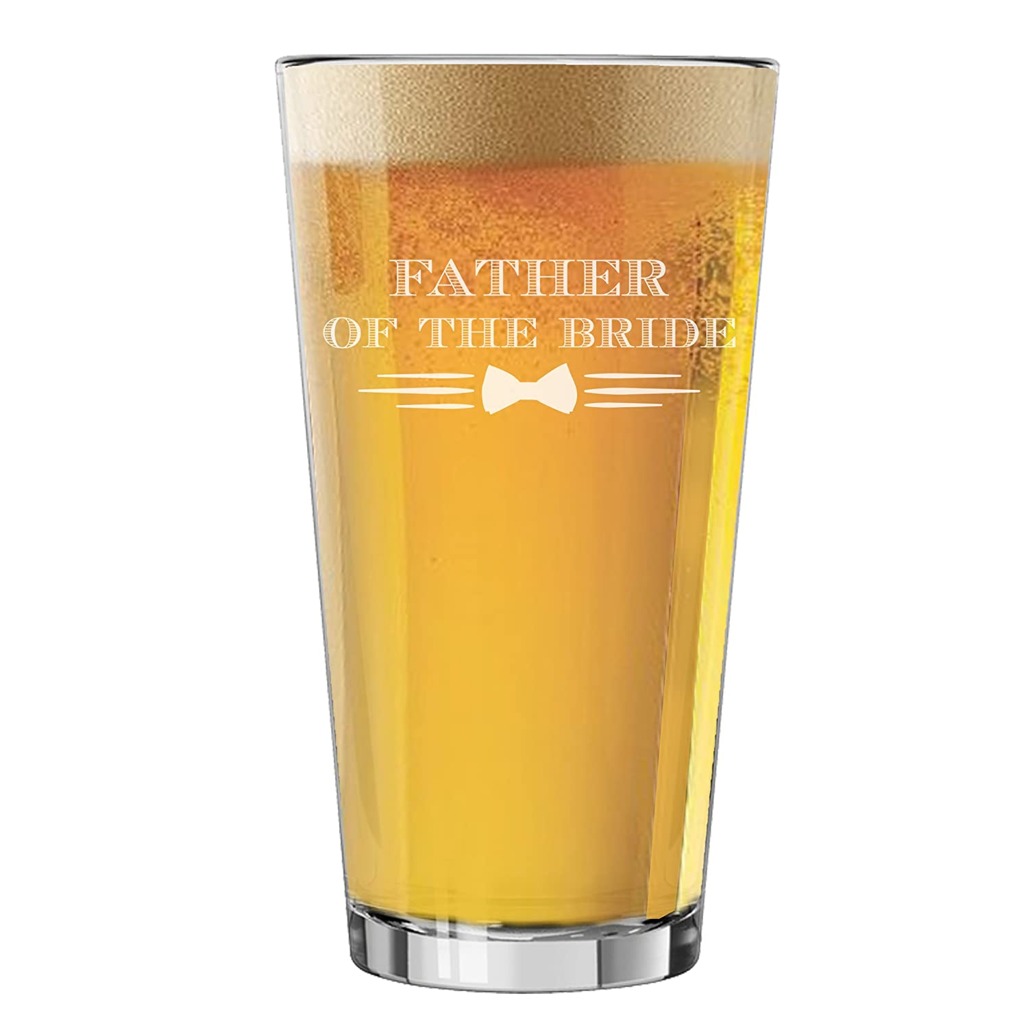 Pint Glasses for Bachelor Party, Weddings, Wedding Favors, Beer Gifts (Badge Style 16oz, Best Man Glass) My Personal Memories MPM0354