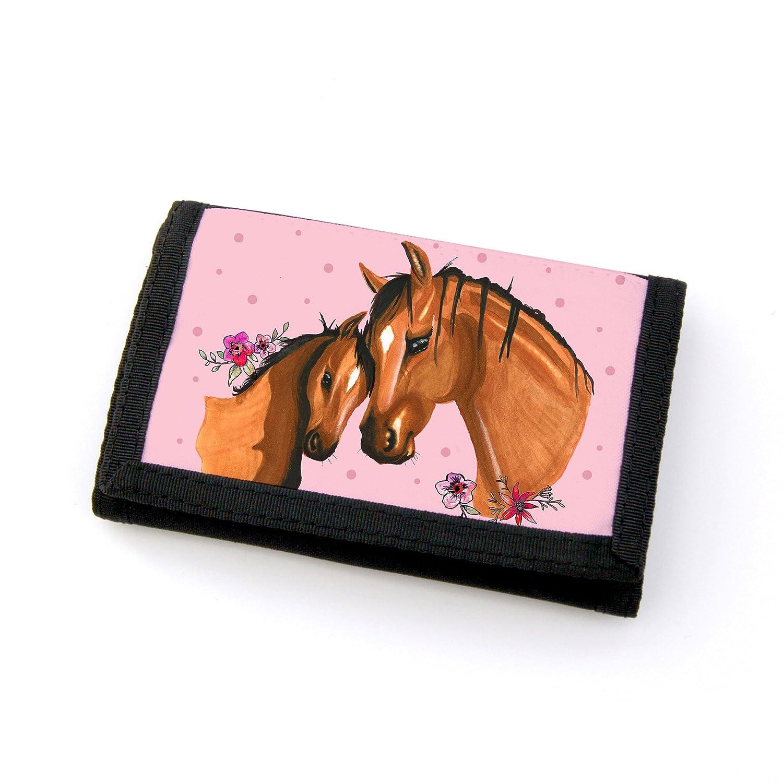 Monedero Cartera caballo potro con yegua Jung caballo puntos y flores gf45: Amazon.es: Juguetes y juegos