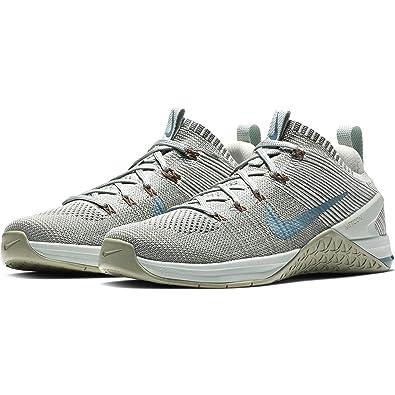 a0319749cb Nike Women's Metcon DSX Flyknit 2 Training Shoe Matte Silver/Celestial  Teal-Light Silver