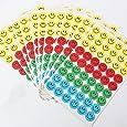 KINGSO 540 Pcs Stickers Mini-Autocollant Visages Souriants Recompense Pour Enfant Deco Album Livre
